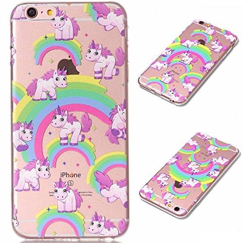 Per iPhone 6 Plus / iPhone 6S Plus Cover , YIGA Unicorno dellaerostato Trasparente Silicone Morbido TPU Case Shell Protezione Custodia per Apple iPhone 6 Plus / iPhone 6S Plus (5,5) XY16