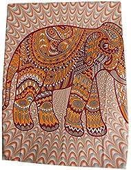 Colgante de Pared Elefante Indio Tapicería Bohemia Hippie Colcha Tiro Decoración