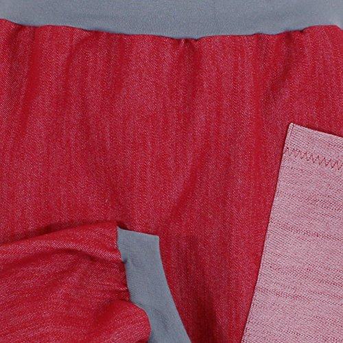 Ballonrock PAULIZ – roter Damen Ballonrock aus Jeans - 3