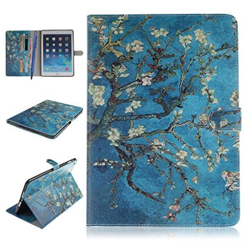 iPad Air Funda,Careynoce Atrapasueños León Tigre Pattern Flip PU Cuero Carcasas Funda Case Cover para Apple iPad Air iPad 5 (9.7 pulgada) - Albaricoque