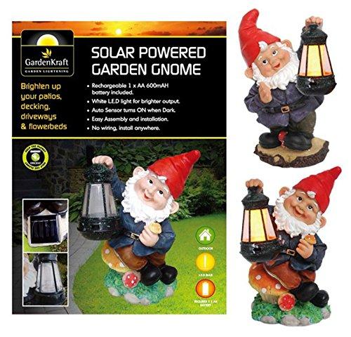 Gardenkraft 18310solarbetriebene Garten Zwerg mit Laterne