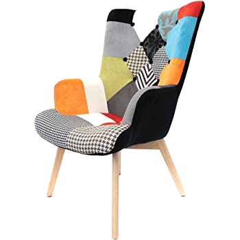 mathi design fauteuil patchwork scandinave java cuisine maison. Black Bedroom Furniture Sets. Home Design Ideas