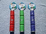 GB Squeaky Xmas Cracker 5cm diameter x 30cm long in 3 colours as shown - PACK OF 3