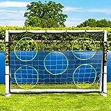 Net World Sports Torwand für Fußballtore, robuste Zielschussplane zur Anbringung an Fußballtoren (Torwand 3x2m)