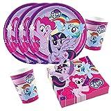 36-teiliges Party-Set My little Pony 2017 - Teller Becher Servietten für 8 Kinder