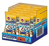 Pedigree DentaStix Hundeleckerli für mittelgroße Hunde / Kausnack mit Huhn- und Rindgeschmack gegen Zahnsteinbildung für gesunde Zähne / 10x7 Stück