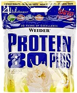 Weider, 80 Plus Protein, Banane, 1er Pack (1 x 2 kg)