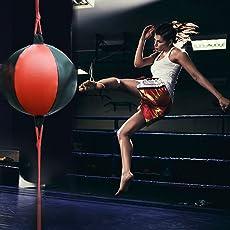 Speed-Ball Stirnband-Trainer und für Fitness, die tragbar, für Erwachsene, zum Aufhängen mit gegen Aufblasbare Sandbag