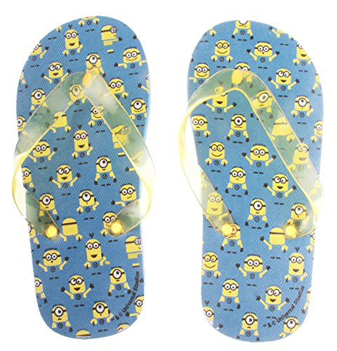 Para niño, diseño de chanclas, color azul/amarillo de 26 a 35