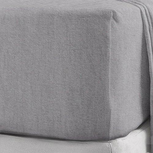 flanell spannbettlaken Spannbettlaken aus 100 % gebürstetem Baumwollflanell, 25cm Einzelbett silber