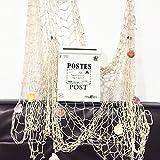 yahead Mediterraner Stil Deko-Fisch Net mit Anker und Muscheln und dekorative Ron Mailbox Wand montiert Buchstabe Briefkasten für die Fotografie Requisiten Wandbild Hochzeit Bar Cafe Display Home Dekoration