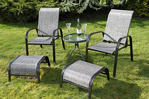 set-of-2-reclining-garden-chairs-with-2-foot-stools-and-a-side-table-light-brown-tweed-weatherproof-