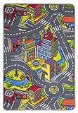 misento 293300 Tapis de jeu enfant Motif rues 80 x 120 cm