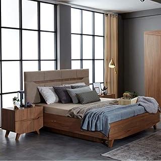 Evok Terence King Size Bed with Hydraulic Storage  Walnut