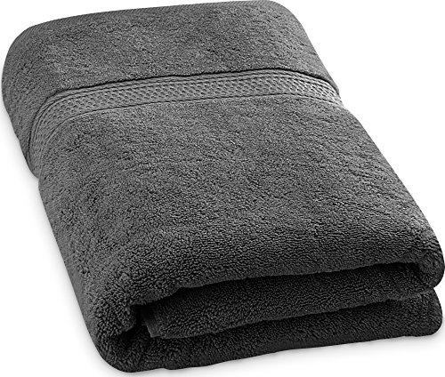 Utopia Towels - Badetuch - 700 g/m² - Premium 100{39a5b96fb769f945d2ffe09be9499c0b296b99f188b5c2e250a28d3935b03f90} Ringgesponnene Baumwollhandtuch - weich und luxuriös Badewannenblatt (Grau, 89 x 178 cm)