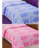 Elegance Pink & Blue 100% Cotton Two Sin...