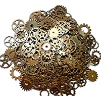 Dosige 100 Grams Vintage Pendant Clock Watch Wheel Gear Antique Steampunk Gears for DIY Crafting Jewellery Making Finding Parts Accessory 12mm-28mm