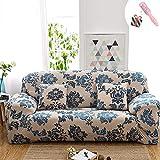 Funda Sofá de 3 plazas Universal Estiramiento, Morbuy Moderno Jacquard Cubierta de Cubre Sofá Funda Furniture Protector Antideslizante Elastic Soft Sofa Couch Cover (Funda de Almohada * 1,Provenza)
