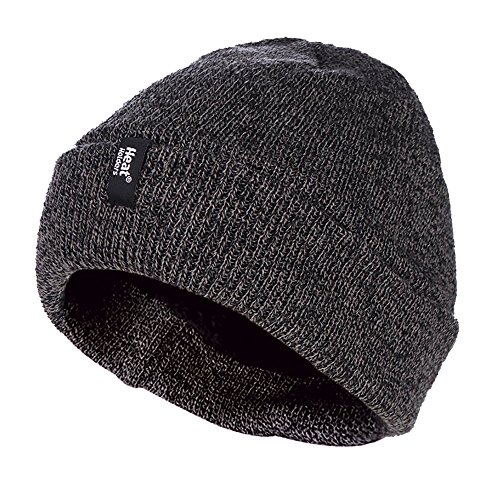 Heat Holders - Herren winter strick knit mütze beanie mit innenfutter in grau, blau...