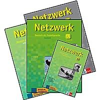 Netzwerk A2 Textbook + Workbook + Glossar + Intensivtrainer with 4 CDs (4 Book Set)