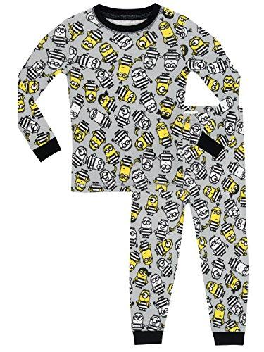 Minions - pigiama a maniche lunga per ragazzi - cattivissimo me - vestibilitta stretta - 6 - 7 anni
