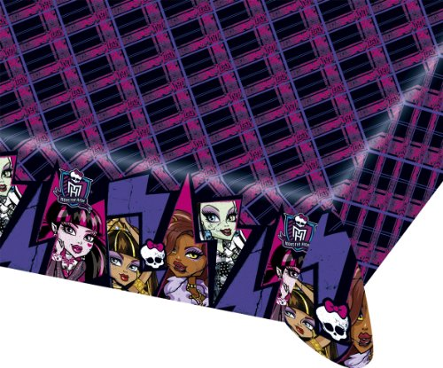 1x große Tischdecke * MONSTER HIGH 2 * vom Riethmüller // Geburtstag Kinder Kindergeburtstag Party Kinderparty Tablecover Cover Motto Deko Einweg (High Einladungen Monster)