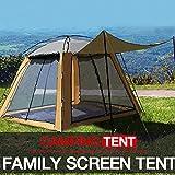 zhuoyueshangpin Tente extérieure Tente de Camping écran Solaire Respirant Net Portes à Quatre côtés et prévention des Insectes de Ventilation Windows 3-4 Personnes Camping Tente de pêche