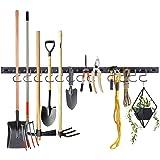 Almabner Cintre à outils de garage, 122,9 cm, robuste, support à outils mural avec une forte capacité de charge, crochets pou