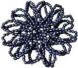 Perle filet élastique couleur: bleu foncé cheveux de cheveux pour chignon Chignon Filet Cheveux Filet nœuds
