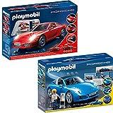 PLAYMOBIL Porsche Set: 3911 5991 Porsche 911 Carrera S + Porsche 911 Targa 4S