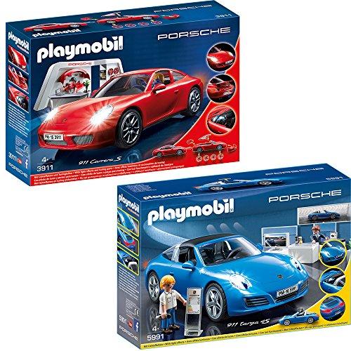 PLAYMOBIL® Porsche Set: 3911 5991 Porsche 911 Carrera S + Porsche 911 Targa 4S