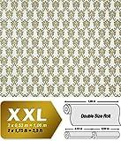 Barock Tapete XXL Vliestapete EDEM 656-95 Elegantes kleinformatiges Barockmuster Textil-Optik grün gold creme hellbraun 10,65 m2