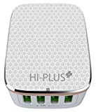 HI-Plus H444C Wall Charger with 4 USB Po...