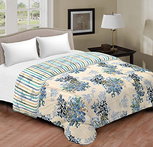 Spangle Designer 3 PLY Cotton Camric Reversible Dohar - Double Bed