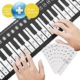 A-szcxtop 49 key electronic piano / portable folding electronic soft keyboard piano / roll up the piano