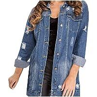 Harpily Giacca di Jeans Lunga Donna Giubbotto Denim Oversize Cardigan Aperto Davanti Jacket Parka Caldo Elegante…