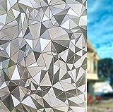 Geseni Diamant Milchglasfolie Glasdekorfolie Fensterfolie Dekorfolie Sichtschutzfolie Fensterschutzfolie Selbsthaftend Statisch Haftend 45cm 06
