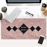 @A Office Einfache Textur, Marmor Spiel, Mouse Pad, Rutschfeste Gummifüße Kompatibel Mit Laser Und Optische Maus Geeignet Für Jede Maus Und Tastatur Und Notebook., 9.400 X 900 Mm X 3 Mm,