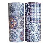 Mr-Label 10cm × 5m Scrapbooking Washi Tape - Vintage - Bastelklebeband Aufkleber für DIY Scrapbook Kunstjournal | Bullet Journal | Geschenkverpackung (2 Rollen)