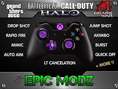 Epic Modz Xbox ONE Custom Purple Modded Wireless Controller Cod Mod 3.5mm