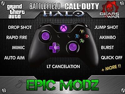 Epic Modz Xbox ONE Custom Purple Modded Wireless Controller Cod Mod 3.5mm