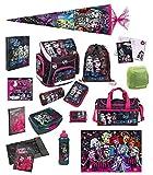 Monster High Schulranzen Set 23tlg. Schultüte 85cm Sporttasche Federmappe Regen-/Sicherheitshülle Scooli MHCP8251