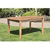 HGG 6 Seater Wooden Garden Table - Outdoor Patio Solid Wood Garden Furniture