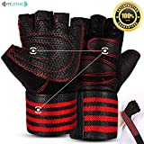 Gym Gloves, Fitlethic Weightlifting Gloves with Soft Padding and Wrist Wrap Support