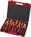 KNIPEX 00 21 15 Werkzeug-Box 7-teilig für die Elektromontage