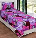 La elite 100% Cotton Purple Floral Check...