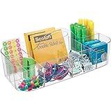 mDesign boite de rangement idéale pour fourniture de bureau – pot a crayon en plastique à 11 compartiments – rangement bureau