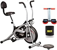 HEALTHEX HX300 Fitness Bike Platinum with Back SEAT and Twister    Moving Handle    with Free Installation Assistance