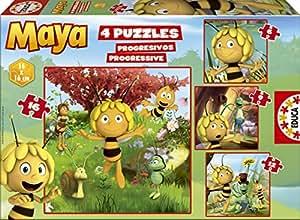 Educa - 15088 - Puzzle Classique - Progress Puzzle - Maya L'Abeille: Amazon.fr: Jeux et Jouets