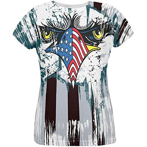Patriotische Adler von Philly Alle über Womens T-Shirt Multi MD (Patriotische Damen-t-shirts)